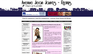 Exemple de création de site internet : commerçants et associations de l'Avenue Jean Jaurès de Reims