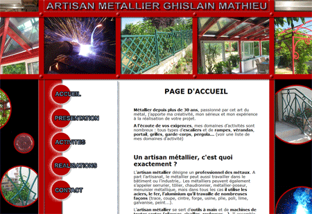 Exemple de creation site Internet Reims : Artisan Métallier à Reims